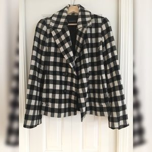 CLUB MONACO Black Ivory Pea Coat Jacket S